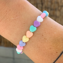 Load image into Gallery viewer, candy hearts bracelet