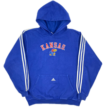 Load image into Gallery viewer, ADIDAS CENTRE LOGO x KANSAS UNI HOODIE (M)