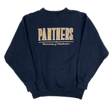 Load image into Gallery viewer, PANTHERS PITTSBURGH EMBROIDERED COLLEGE / UNI SWEATSHIRT (L)