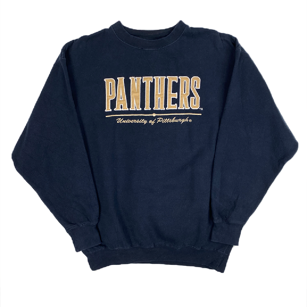 PANTHERS PITTSBURGH EMBROIDERED COLLEGE / UNI SWEATSHIRT (L)