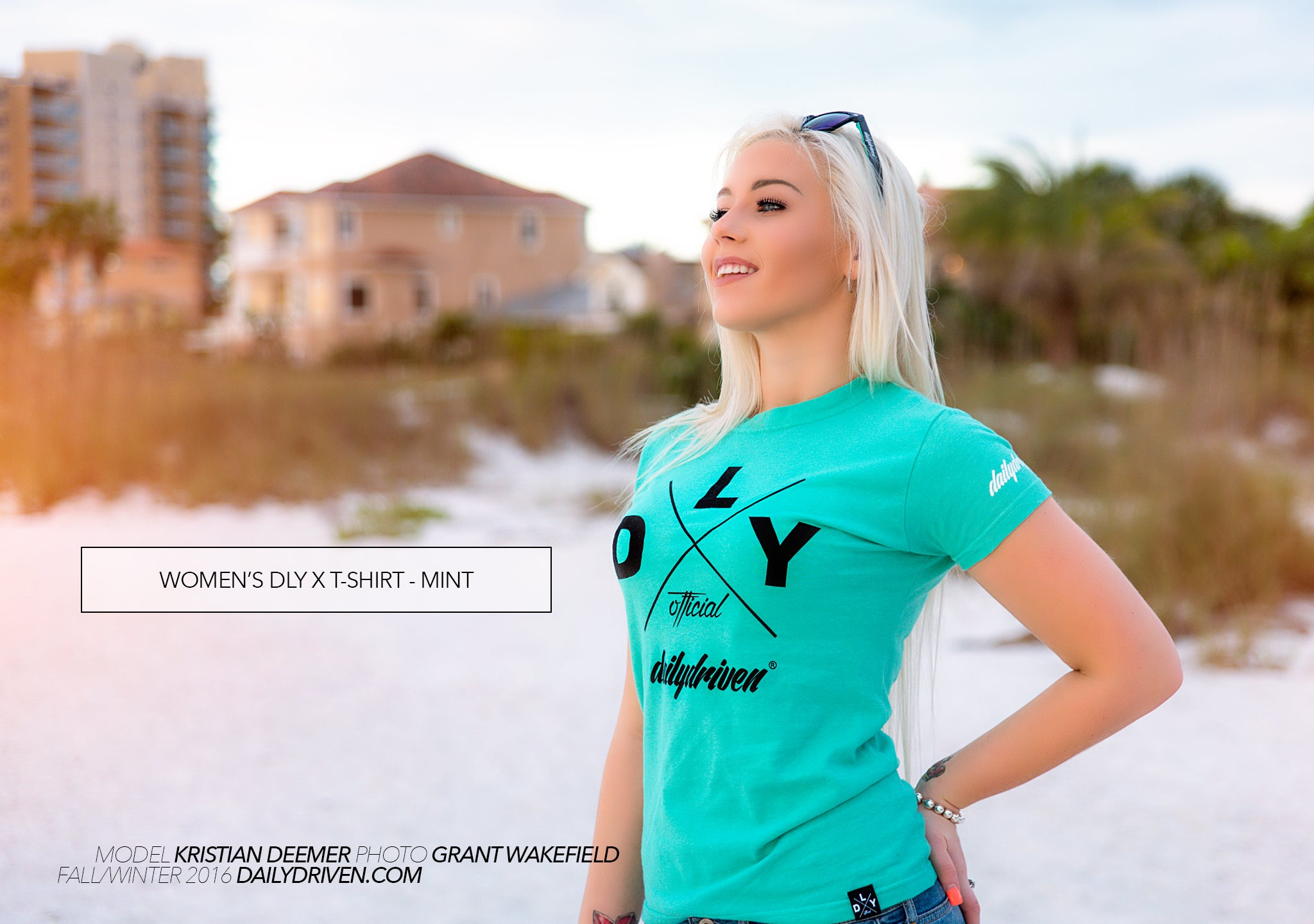 DailyDriven Women's DLY X T-Shirt Mint