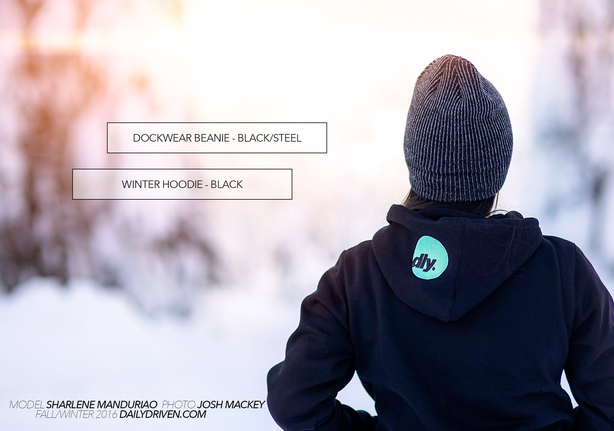DailyDriven Dockwear Beanie Black Steel Winter Hoodie Black Mint