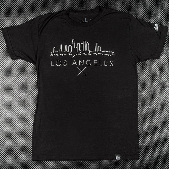 DailyDriven Heartbeat Los Angeles Black T-Shirt