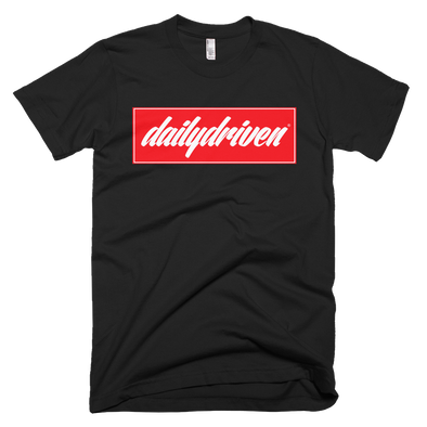 DailyDriven Block Unisex T-Shirt - Black Red