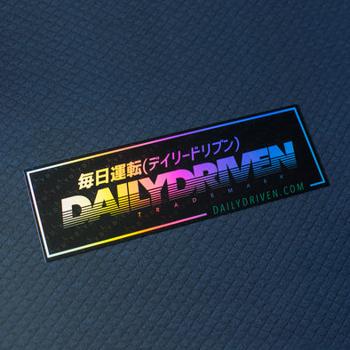 DailyDriven Trademark Oil Chrome Bumper Sticker Free