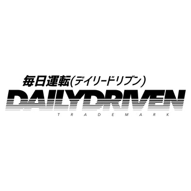 DailyDriven Trademark Die Cut Sticker Black