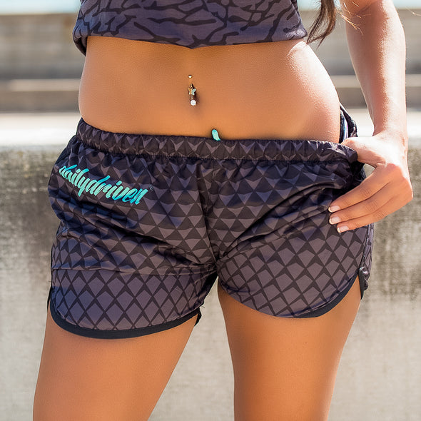 DailyDriven Black Diamond Womens Running Shorts