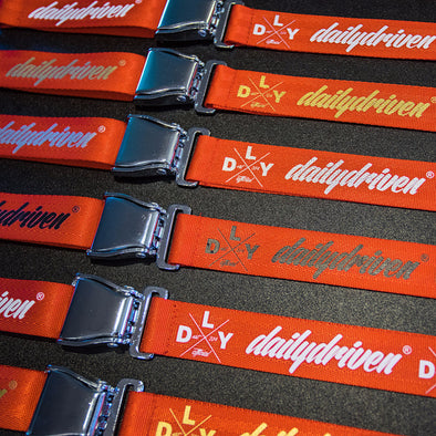 DailyDriven Seat Belt Buckle Red Lanyard