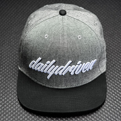 DailyDriven Black Chambray Snapback Hat
