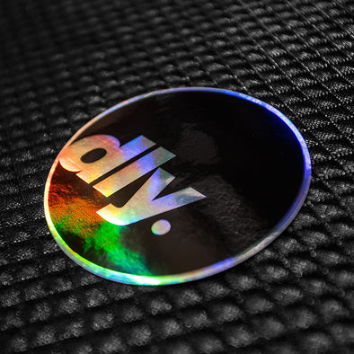 DailyDriven DLY Round Oil Chrome Sticker