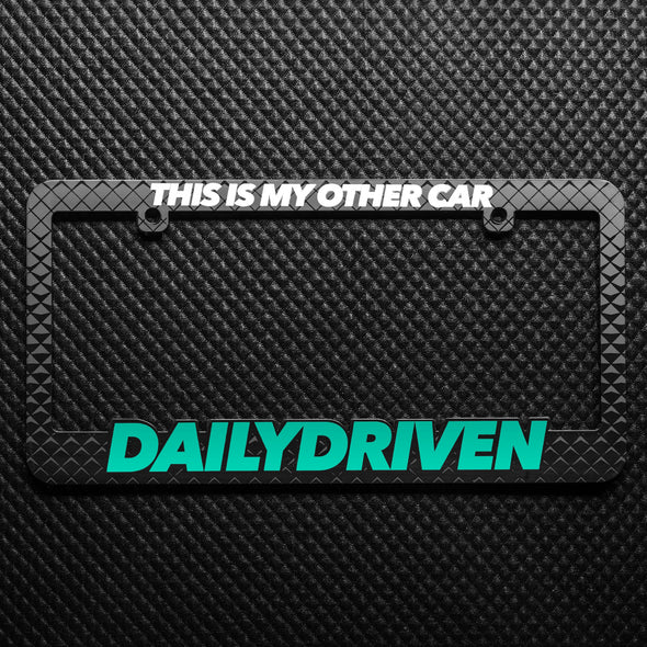 dailydriven license plate frame