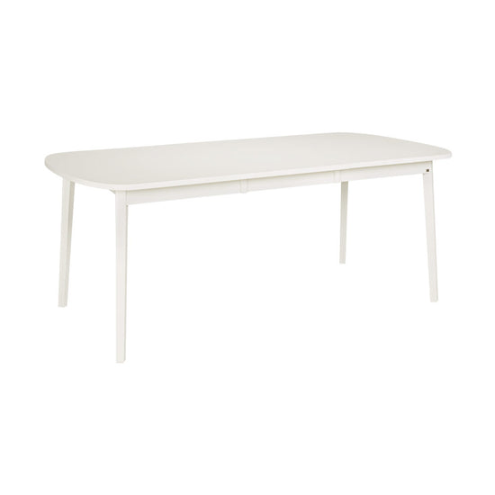 Rainbow Extension Dining Table - 1420 White