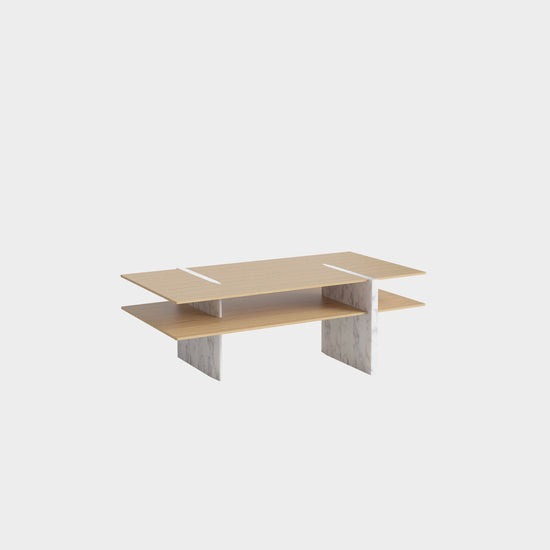 Matita Coffee Table - White Marble Legs