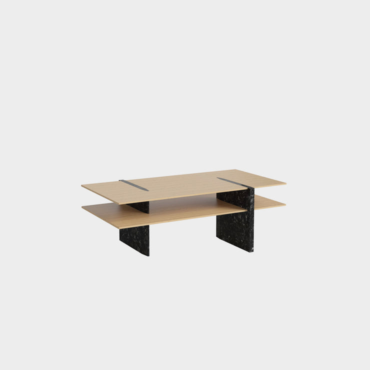 Matita Coffee Table - Black Marble Legs