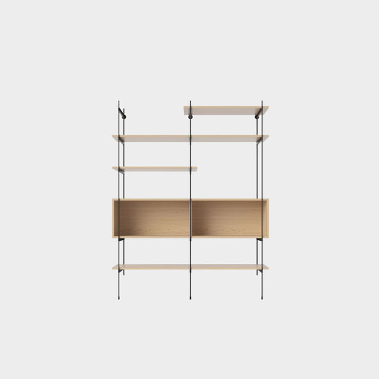 Rod Shelf 06 - White Oak/Black