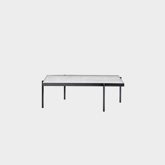 Tab High Rectangle Coffee Table - Black