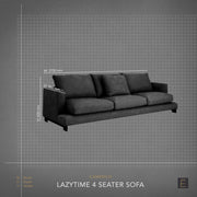 Lazytime 4 Seater Sofa - Mid Grey Tweed