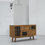 Hans K Rainbow Oak Sideboard with glass at EDITO Furniture