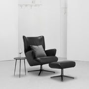 George Lounger + Footstool - Black