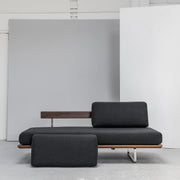 Charcoal Daybed with wooden base and contemporary design at EDITO Furniture