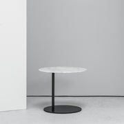 Camerich Pebble Side Table marble and black at EDITO Furniture