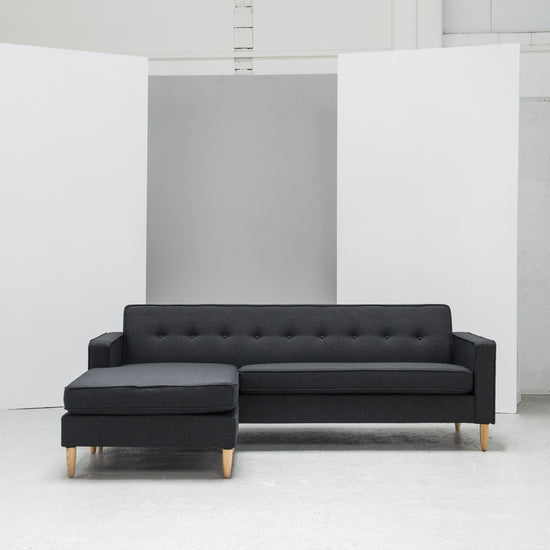 Charcoal L Shaped Sofa Scandinavian Design at EDITO Furniture