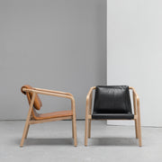 Contemporary leather Scandinavian armchair at EDITO Furniture