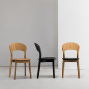 Rainbow Dining Chair - Oak + Camel