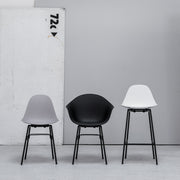 TA Side Chair with Metal Base - Black
