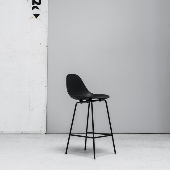 TOOU TA Barstool black with black metal legs at EDITO Furniture