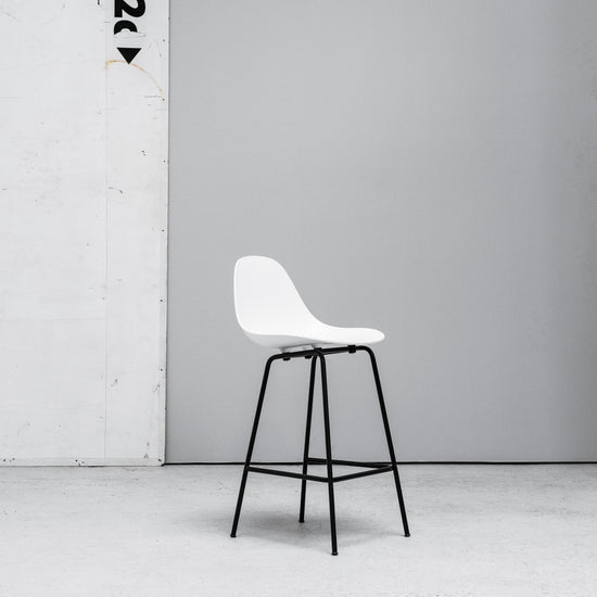 TOOU TA Barstool white with black metal legs at EDITO Furniture