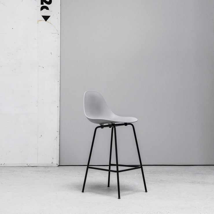 TOOU TA Barstool grey with black metal legs at EDITO Furniture