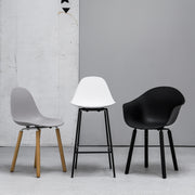 TA Side Chair with Oak Legs - White