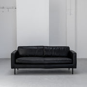 industrial black leather sofa 2 seater at EDITO Furniture