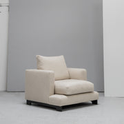 Cream linen Camerich Lazytime Armchair at EDITO Furniture