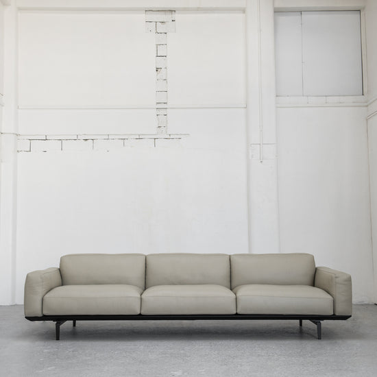 Camerich Jane Leather Sofa stone with black steel at EDITO Furniture