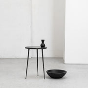 Lancer Side Table - Black Marble