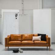 Olsen 3 Seater Sofa - Tan Leather