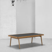 Hans K Racquet Coffee Table charcoal linoleum and oak at EDITO Furniture
