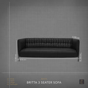 Britta 3 Seater Sofa - Green
