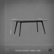 Folke Dining Table - 1800