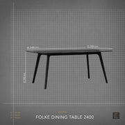 Folke Dining Table - 2400