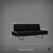 Malin Day Bed - Charcoal