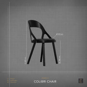 Colibri Dining Chair - Oak + Camel