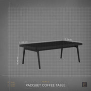 Racquet Coffee Table - Rectangle