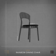 Rainbow Dining Chair - Oak + Black