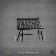 Zigzag Bench Seat - Oak