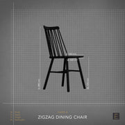 Zigzag Dining Chair - Black