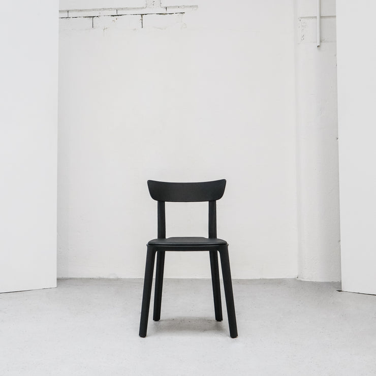 Cadrea Dining Chair - Black Padded Seat