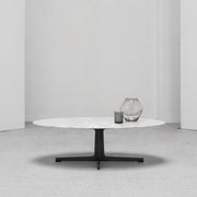 Vary Oval Coffee Table - Carrara Marble